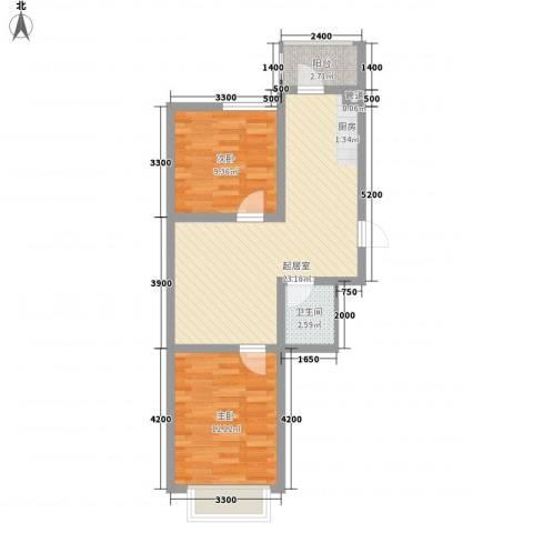 万熹绿景2室0厅1卫0厨69.00㎡户型图