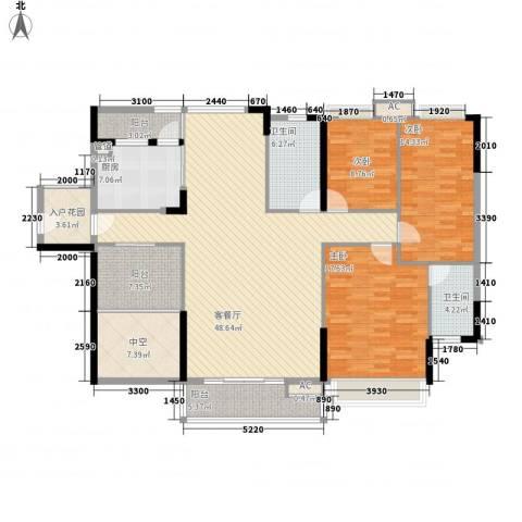 棕榈泉五期3室1厅2卫1厨170.00㎡户型图