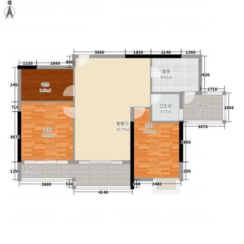 新安大厦3室1厅1卫1厨138.00㎡户型图