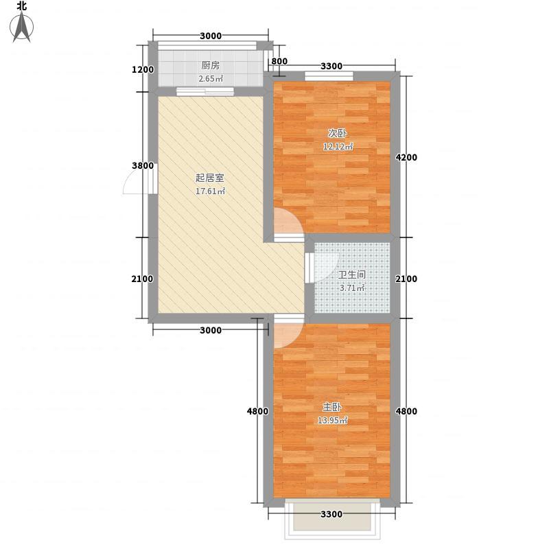 万熹绿景73.00㎡万熹绿景户型图2室2厅1卫户型10室