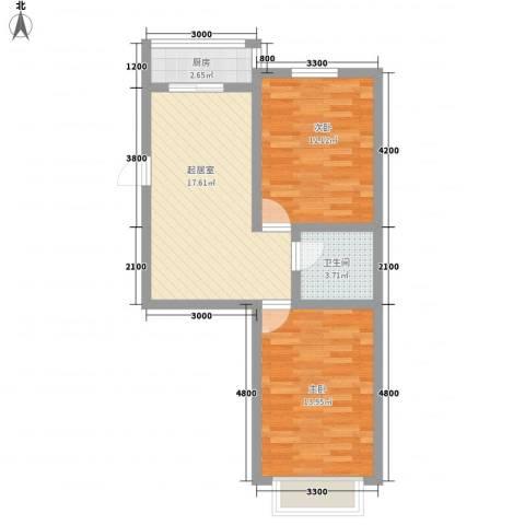 万熹绿景2室0厅1卫1厨73.00㎡户型图