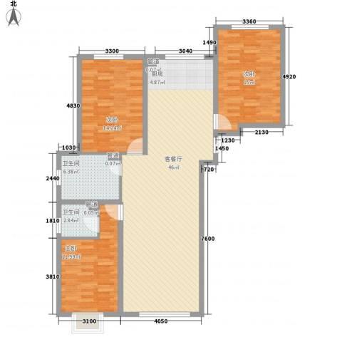 东岭小区3室1厅2卫0厨135.00㎡户型图