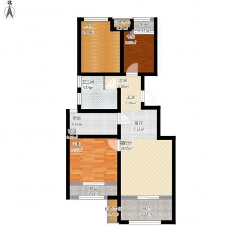 创想凯旋湾2室1厅1卫1厨101.00㎡户型图