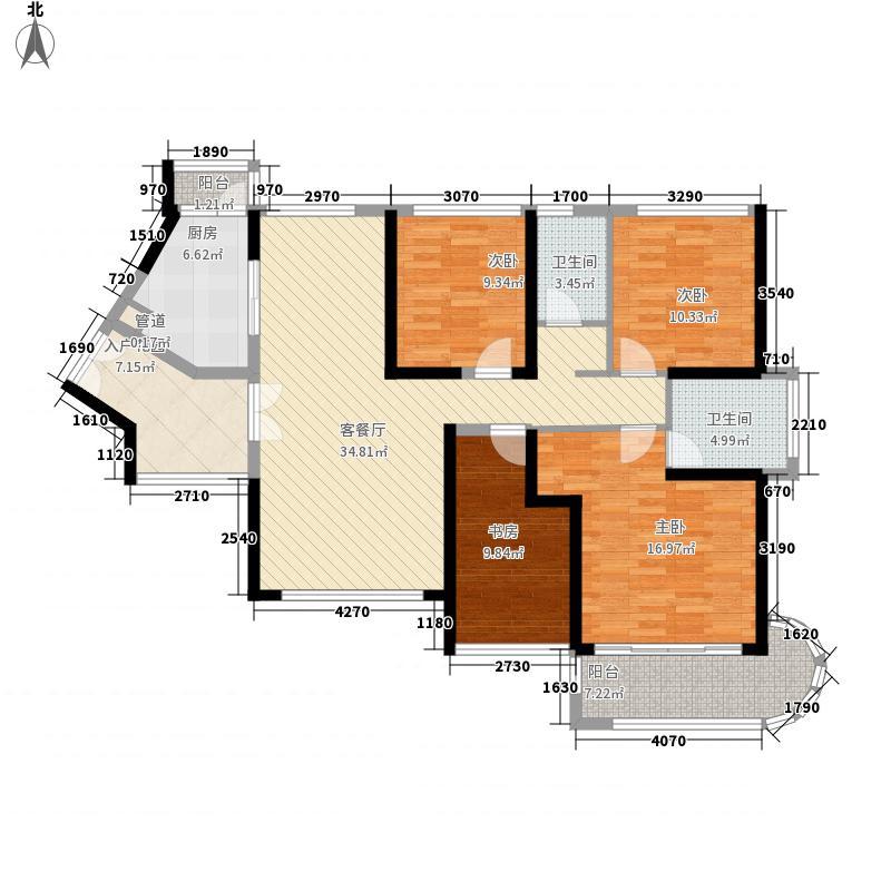 特发和平里135.00㎡F栋奇数层户型3室2厅2卫1厨