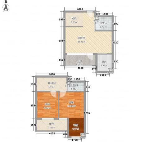 枫景华庭2室0厅2卫1厨112.00㎡户型图