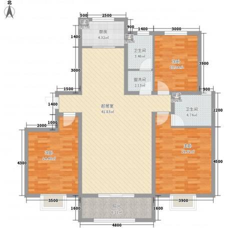 枫景华庭3室0厅2卫1厨146.00㎡户型图
