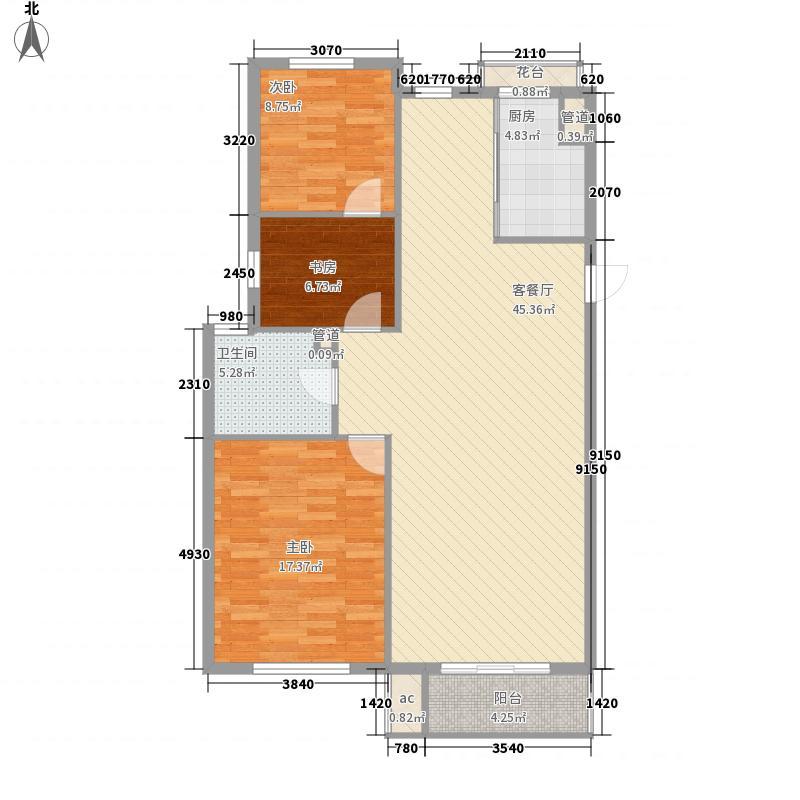 顺德园98.86㎡顺德园户型图H户型3室2厅1卫户型3室2厅1卫