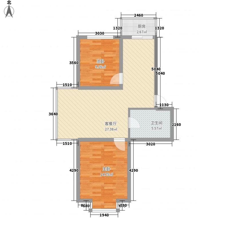 富城国际花园76.00㎡富城国际花园H户型10室