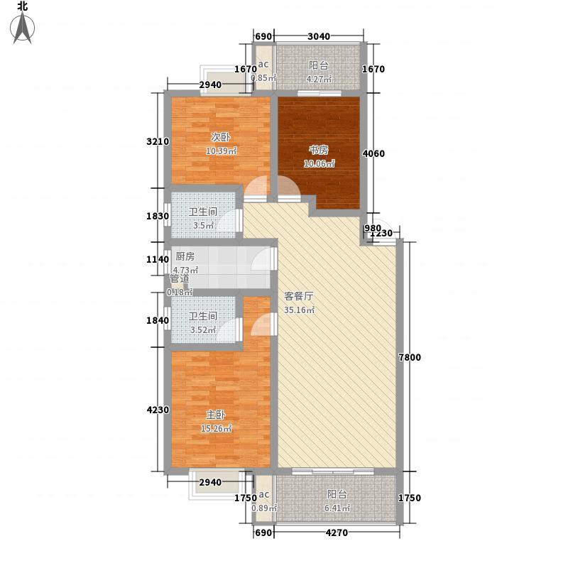 理想岭域户型3室2厅2卫1厨