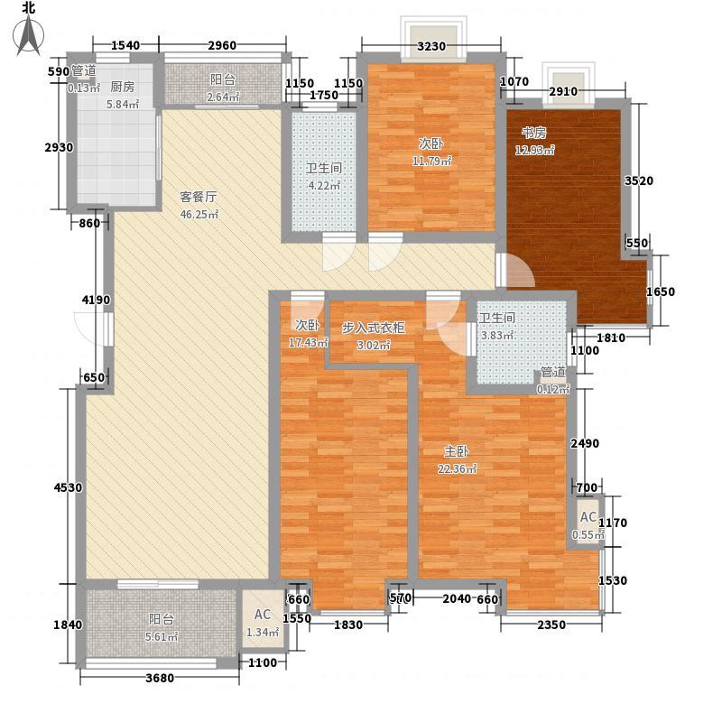 中洋现代城13.00㎡d户型3室3厅2卫1厨