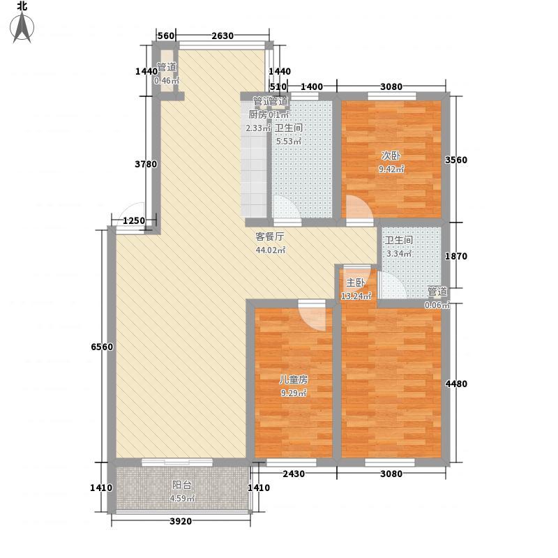 城建东逸花园128.60㎡城建东逸花园户型图C户型3室2厅2卫户型3室2厅2卫