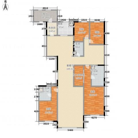 中海紫御华府4室1厅3卫1厨318.00㎡户型图