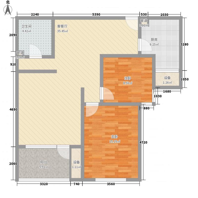 融侨上院68.00㎡融侨上院2室户型2室