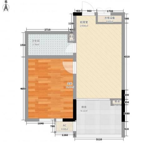 爵士A版1室0厅1卫1厨47.00㎡户型图