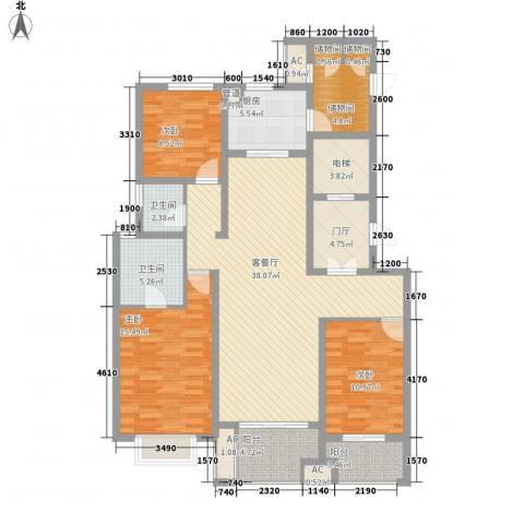 龙湖香醍漫步3室1厅2卫1厨163.00㎡户型图