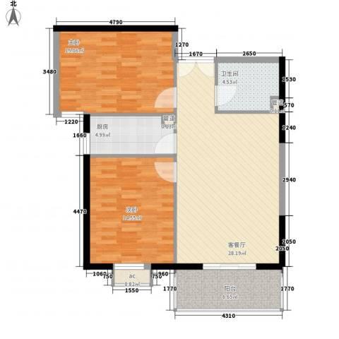 海钻凤凰城2室1厅1卫1厨94.00㎡户型图