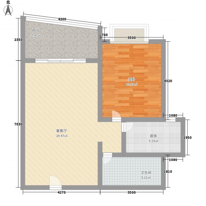 水和园61.20㎡水和园户型图G户型图1室1厅户型1室1厅