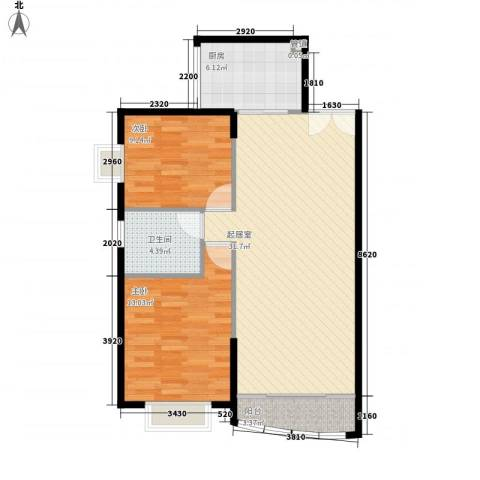 南国家园2室0厅1卫1厨93.00㎡户型图