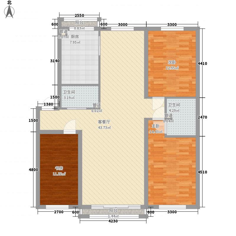 富民雅居2室1厅1户型2室1厅1卫1厨