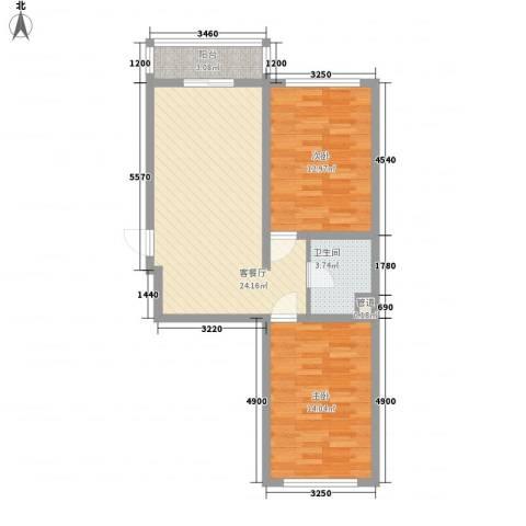 万福小区福阳苑2室1厅1卫0厨78.00㎡户型图