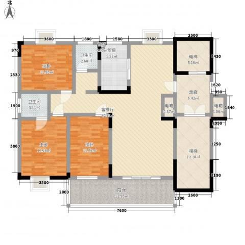 香樟景苑3室1厅2卫1厨189.00㎡户型图