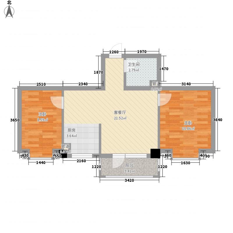 合美华庭68.00㎡合美华庭户型图5、11、12#楼户型2室2厅1卫1厨户型2室2厅1卫1厨