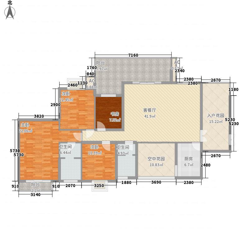 南湖观邸180.40㎡A1户型4室2厅2卫1厨