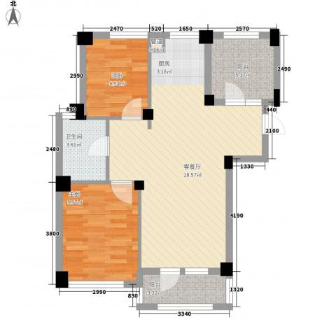 悦泰山里2室1厅1卫0厨83.00㎡户型图