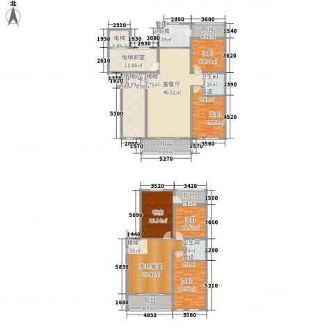 盛世香湾5室1厅2卫1厨207.75㎡户型图