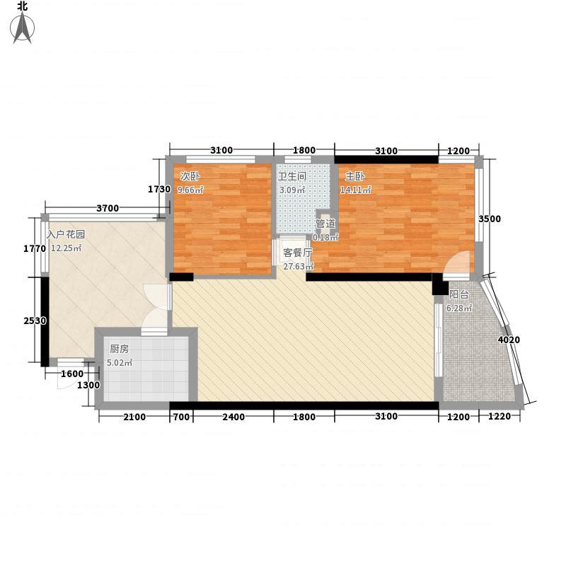 君汇华庭82.51㎡君汇华庭户型图超值版三房3室2厅2卫户型3室2厅2卫