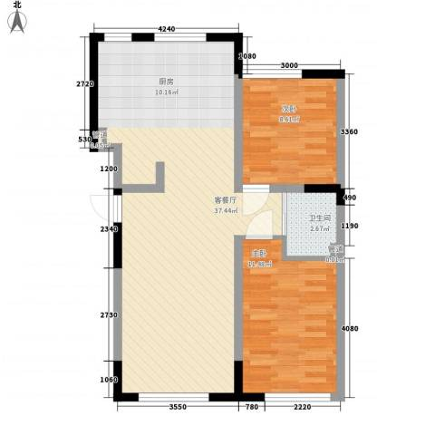 香水湾二期2室1厅1卫0厨81.00㎡户型图