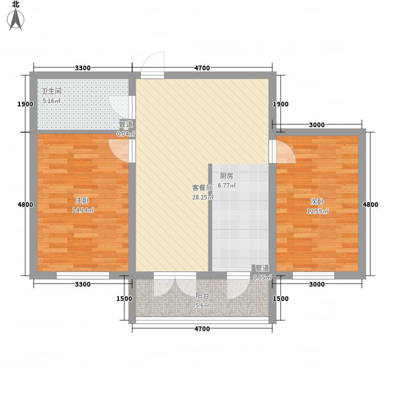 山水美地山水美地户型图二期户型使用面积61.14㎡2室1厅1卫1厨户型2室1厅1卫1厨