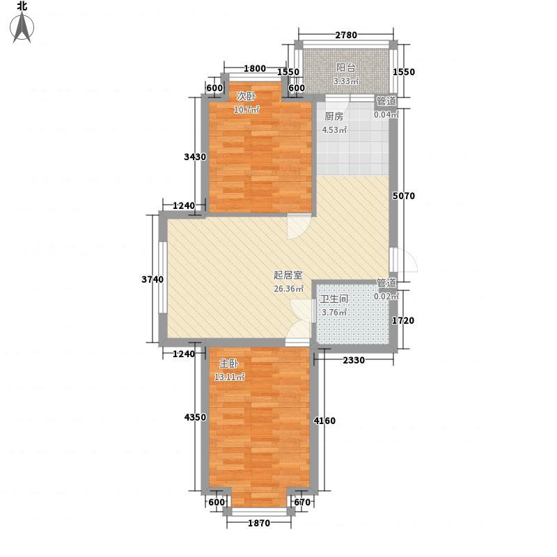 山水美地山水美地户型图二期户型使用面积57.40㎡2室1厅1卫1厨户型2室1厅1卫1厨