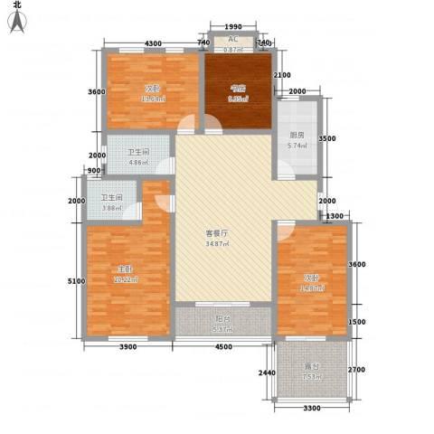 泉山森林海4室1厅2卫1厨121.79㎡户型图