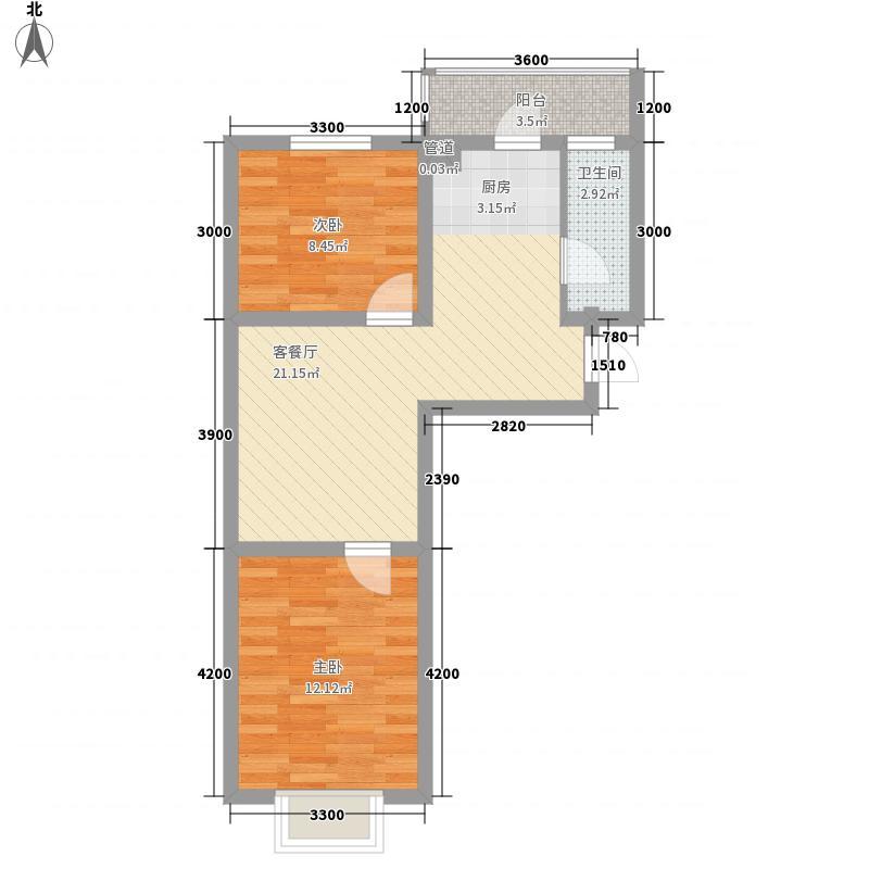 万熹绿景67.00㎡万熹绿景户型图J户型2室2厅1卫户型2室2厅1卫
