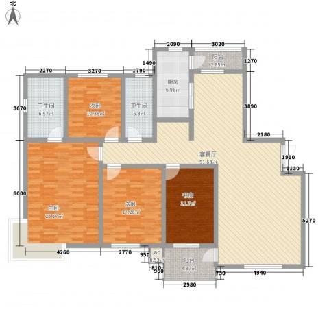 高格蓝湾4室1厅2卫1厨196.00㎡户型图