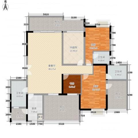 星星华园国际3室1厅3卫1厨201.00㎡户型图