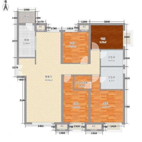 太原富力现代广场4室1厅2卫1厨163.00㎡户型图