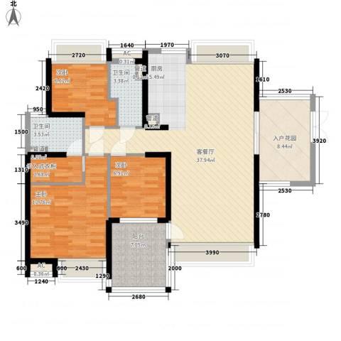 星光礼寓3室1厅2卫0厨129.00㎡户型图