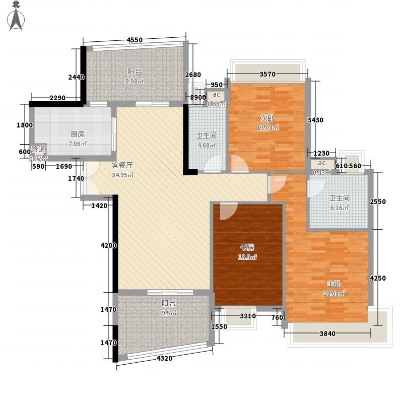 三水雅居乐花园143.00㎡三水雅居乐花园户型图碧堤三期F型01+02单元3室2厅2卫1厨户型3室2厅2卫1厨