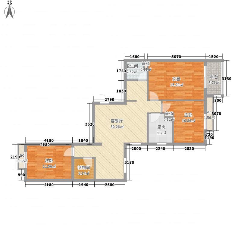 京城仁合118.20㎡C-6户型3室2厅1卫1厨
