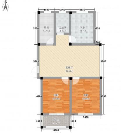 名城景园3室1厅1卫1厨107.00㎡户型图