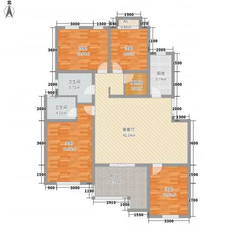 泉山森林海4室1厅2卫1厨154.00㎡户型图
