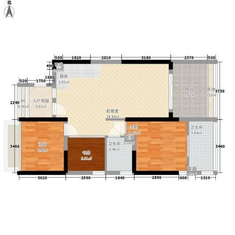 浙大网新・蝶恋海3室0厅2卫0厨110.00㎡户型图