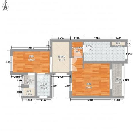 绿地汉拿山小镇2室0厅2卫0厨185.00㎡户型图