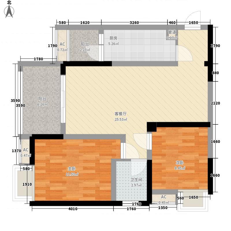 商社汇城品90.56㎡一期2号楼标准层A户型