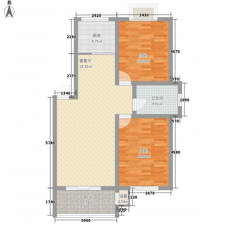 红谷德邑102.04㎡红谷德邑户型图2室2厅1卫1厨户型10室
