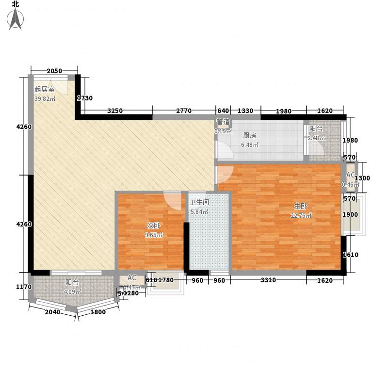 竹洲豪苑127.00㎡竹洲豪苑3室户型3室