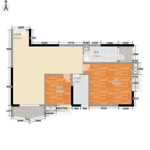 竹洲豪苑2室0厅1卫1厨127.00㎡户型图