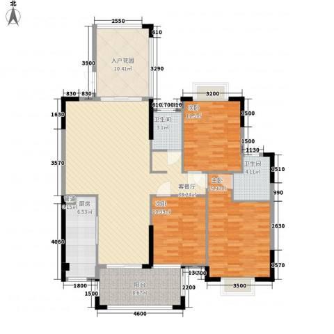 海悦云天3室1厅2卫1厨134.00㎡户型图
